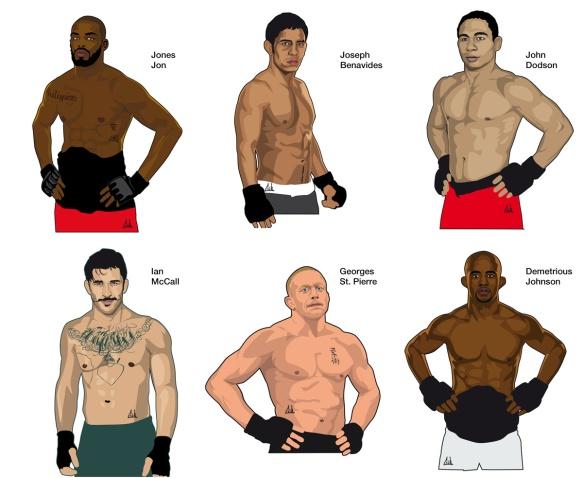 Portraits de champions UFC